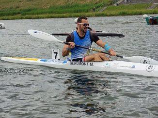 championnats de France de canoë-kayak à Gravelines avec Maxime Beaumont